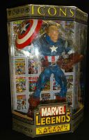 "Marvel Legends Icons: Captain America Unmasked Variant - 12"" Boxed Action Figure"